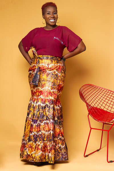 Gypsy  Adire Wrap Skirt
