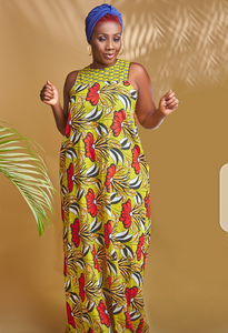 Sleeveless Ankara Long dress
