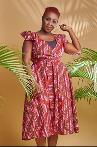 Wrap Ankara Dress