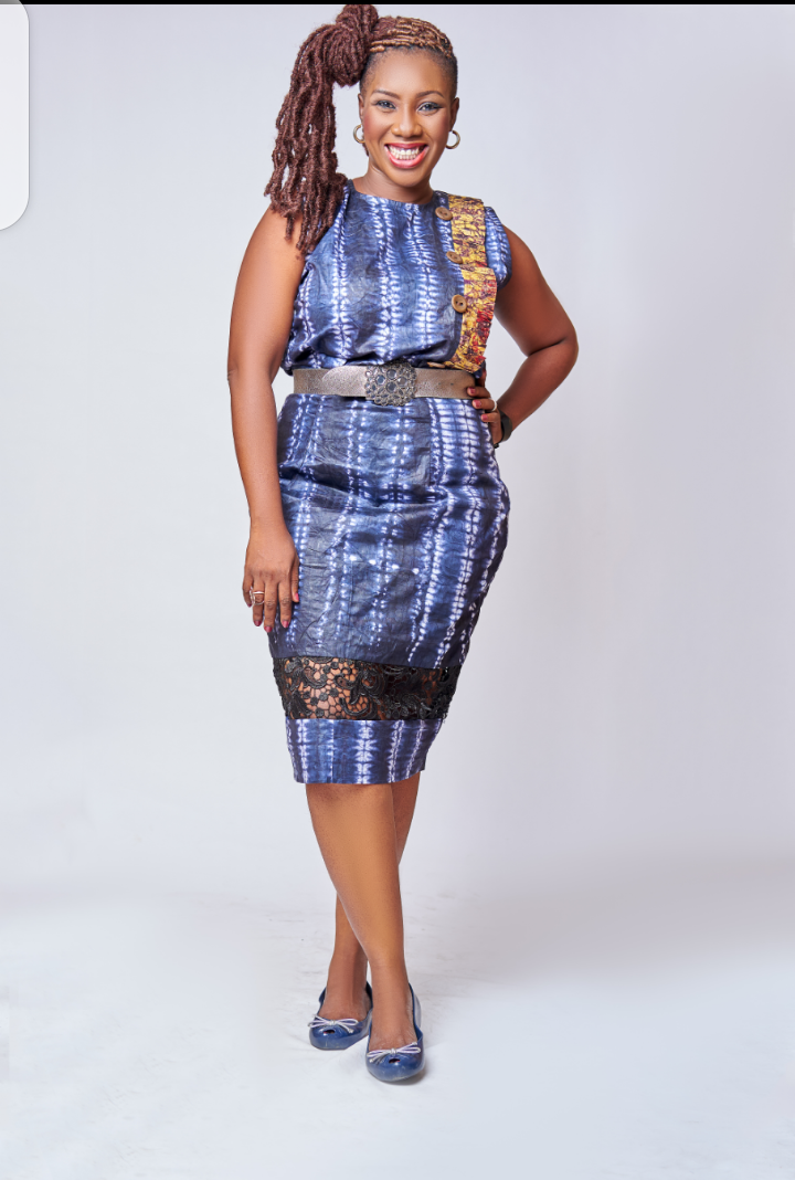 Adire with Lace skirt