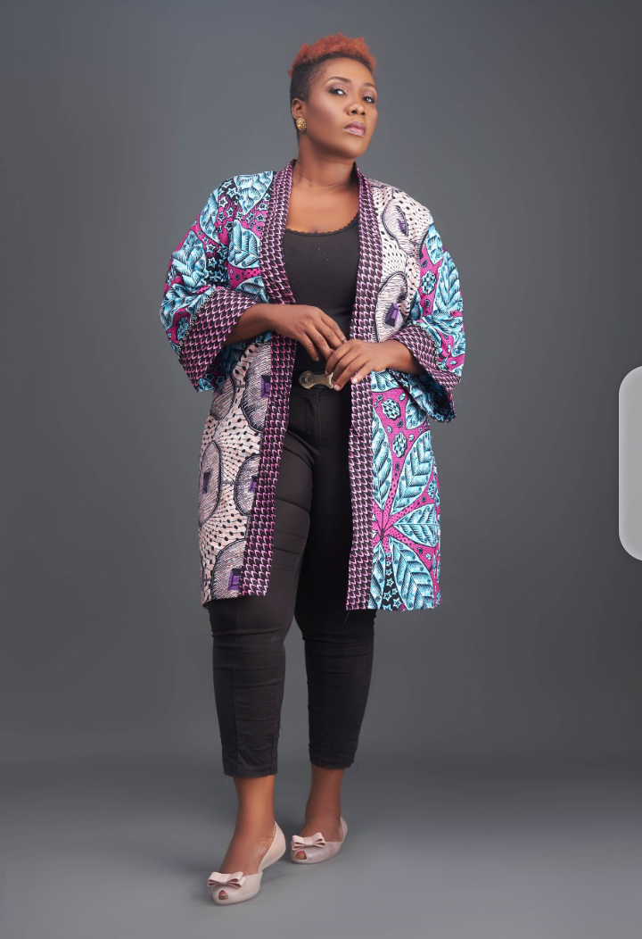 Mixed Embellished Ankara Jacket