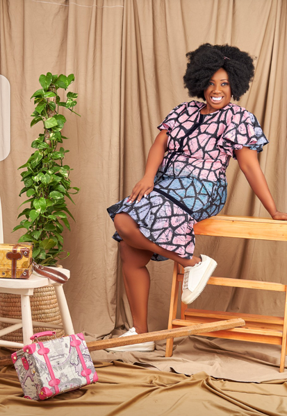 Bunmi  Adire Shift Dress