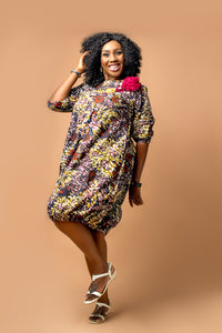 Sheliebe Ankara Bubble Dress
