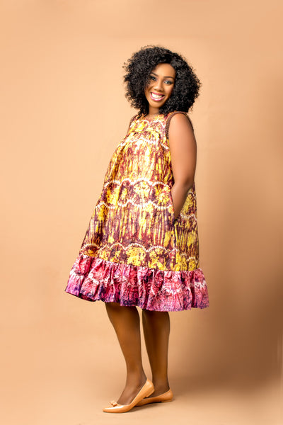 Tosyn Adire Gypsy Shift dress