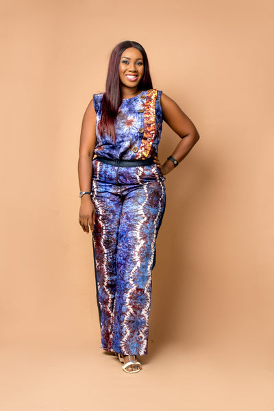 Bisola Adire Denim Pant