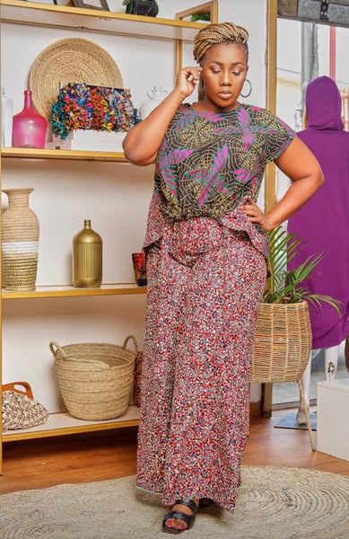 The Harris ankara pant set