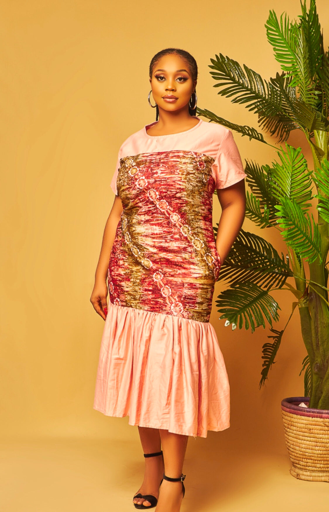 Olamma  Cotton Adire Dress