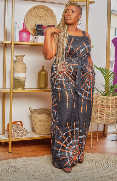 Carolyn  Adire pinafore jumpsuit
