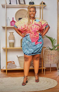 Ella Ankara Bubble dress