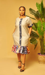 Kaira Mixed Adire Dress