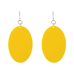 Open image in slideshow, Oval Drop Perspex Earrings