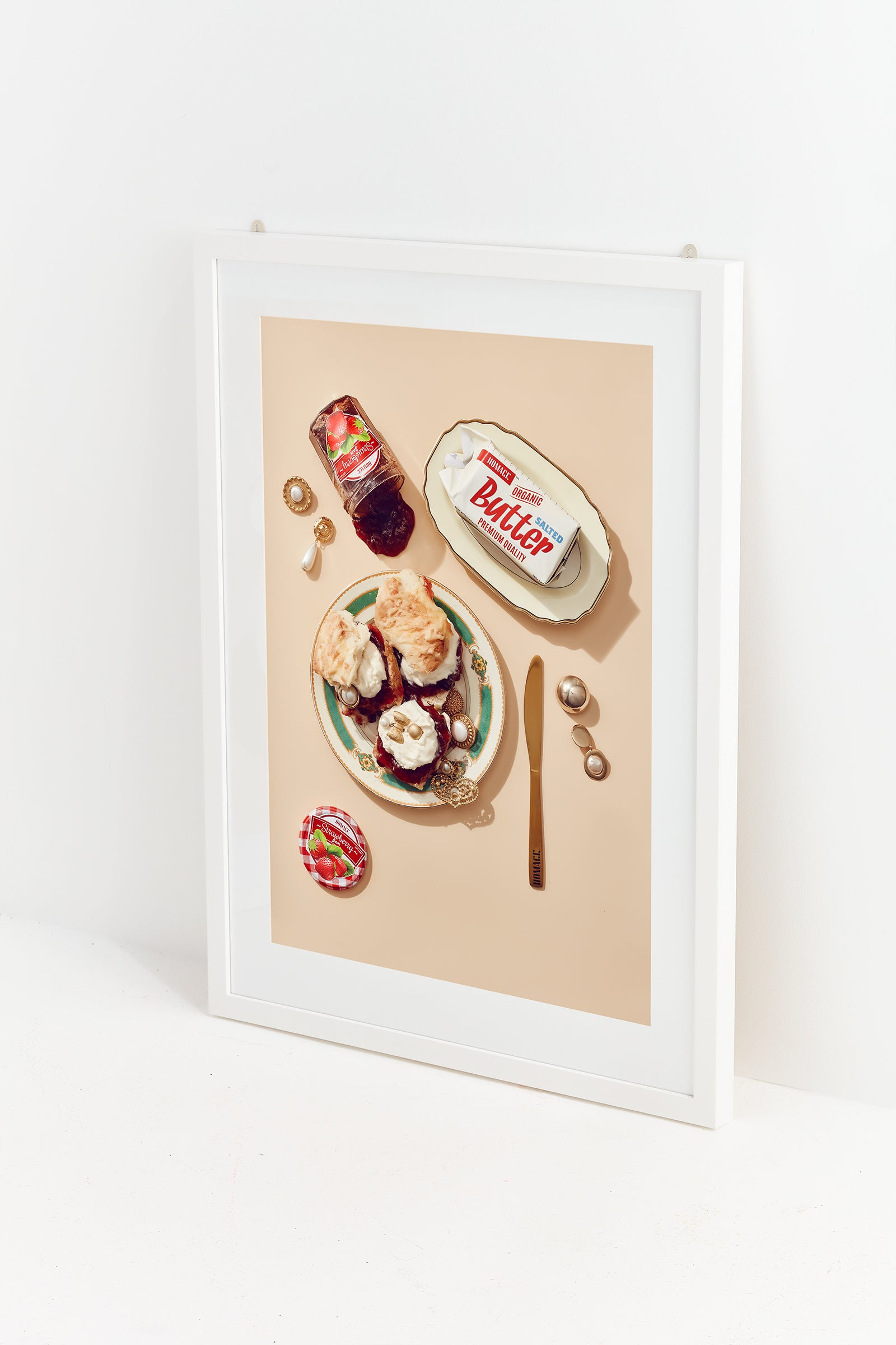 HOMAGE Jewels on Scones Print
