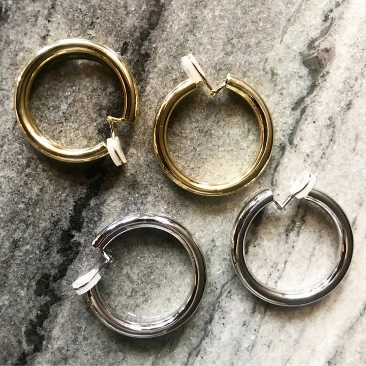 Instafeed - CLIP ON BABY SAMIRA HOOPS