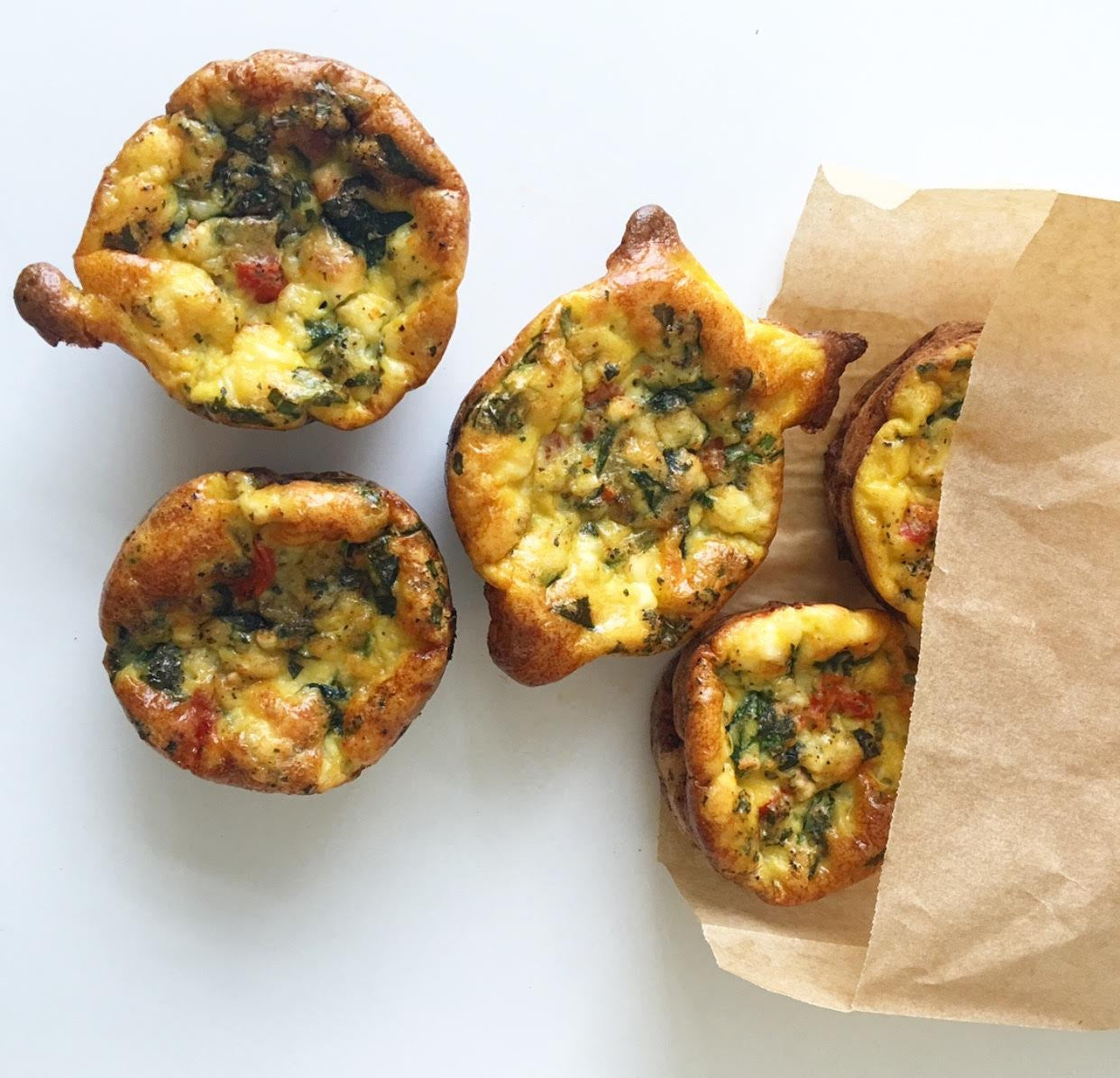 Crustless Quiche Veggie Muffins