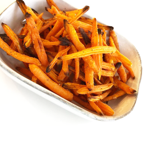 Roasted Maple Garlic Baby Carrot Fries