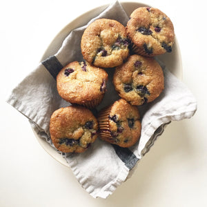 Gluten And Dairy Free Banana Blueberry Power Muffins