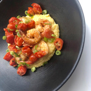 Spicy Shrimp and Polenta