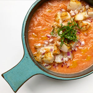 Gazpacho with Curry Shrimp