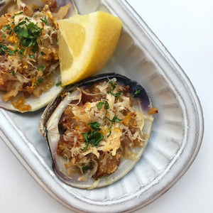 GF Garlic Bacon Stuffed Clams