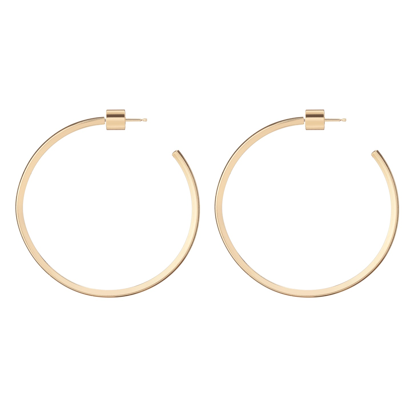 Baby Square Thread Hoops