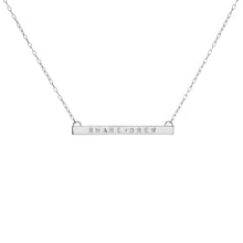 "1.5"" Skinny Tag Necklace with 1 White Diamond"