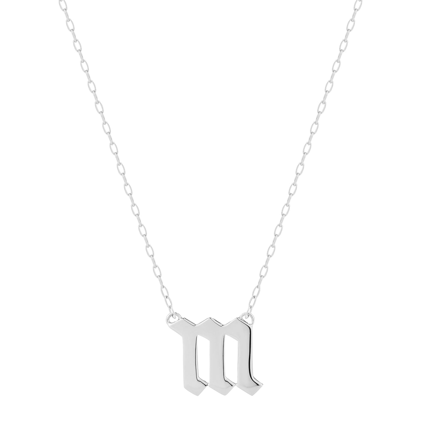 Small Gothic Letter Pendant Necklace