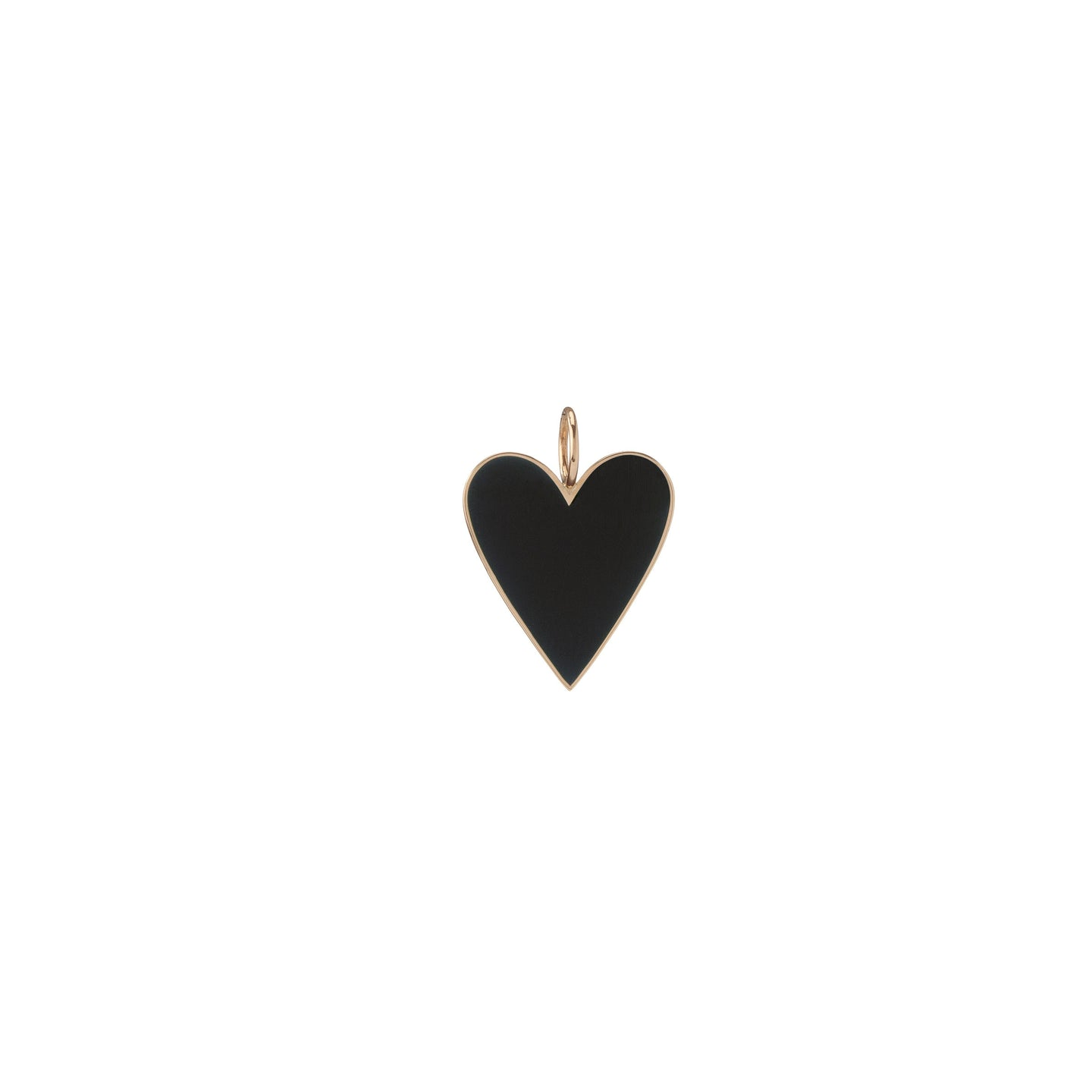 Large Gold Border Enamel Heart