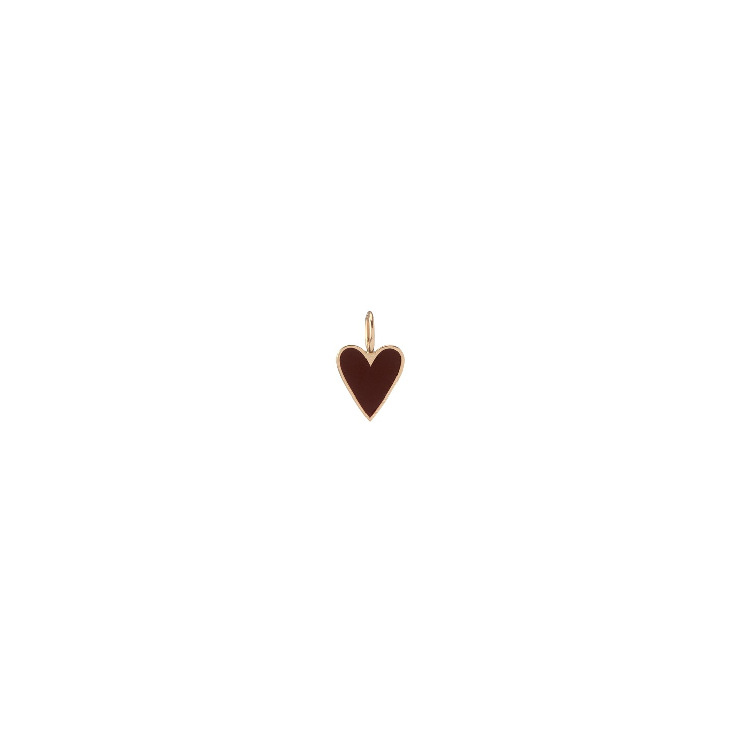 Gold Border Small Enamel Heart Charm