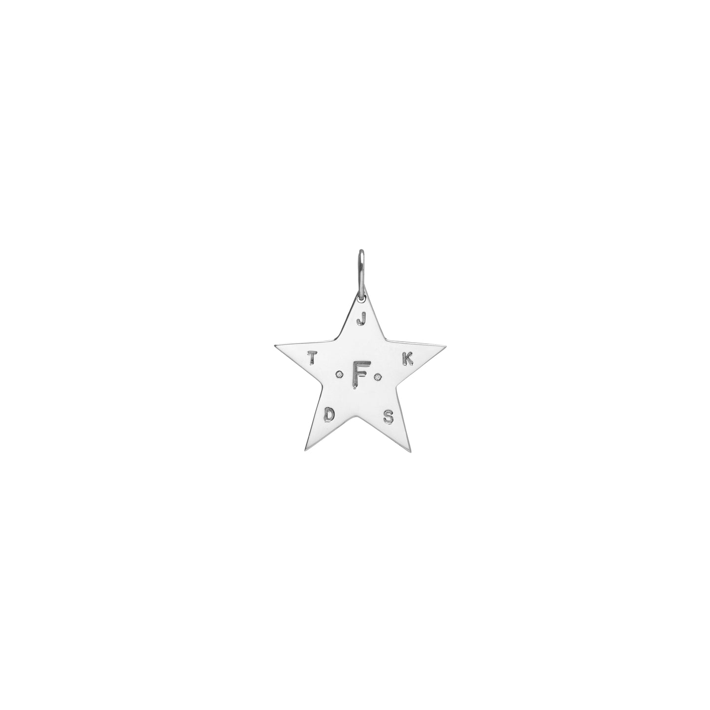 Milestone Large Star with Two White Diamonds