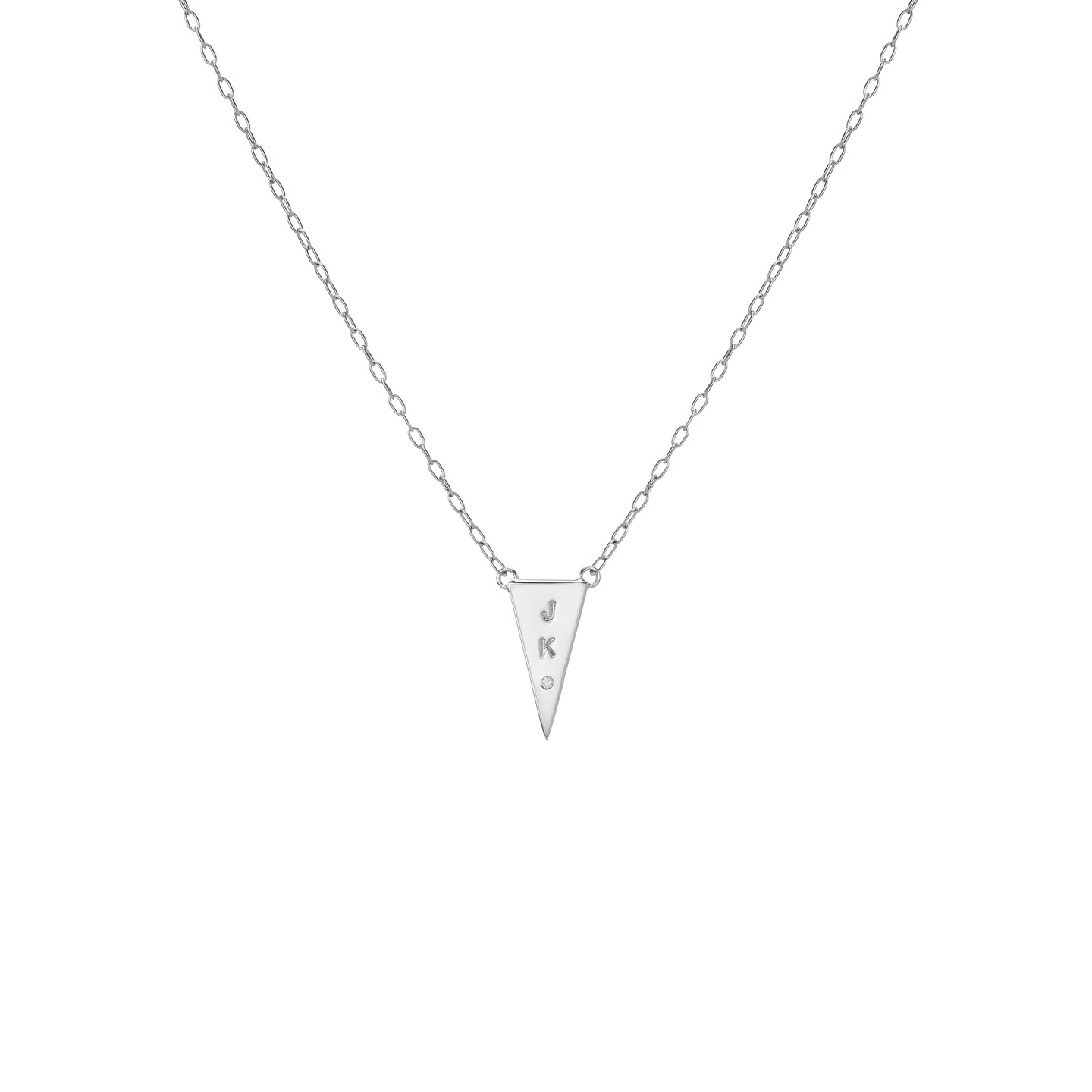 Slice Pendant with 1 White Diamond