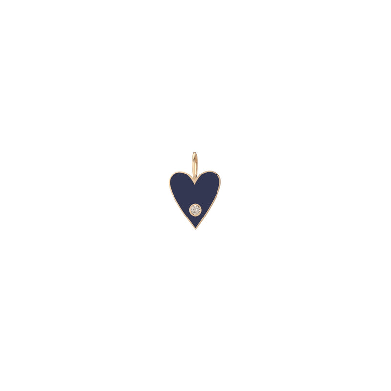 Medium Family Enamel Heart with 2 Letters and Diamond