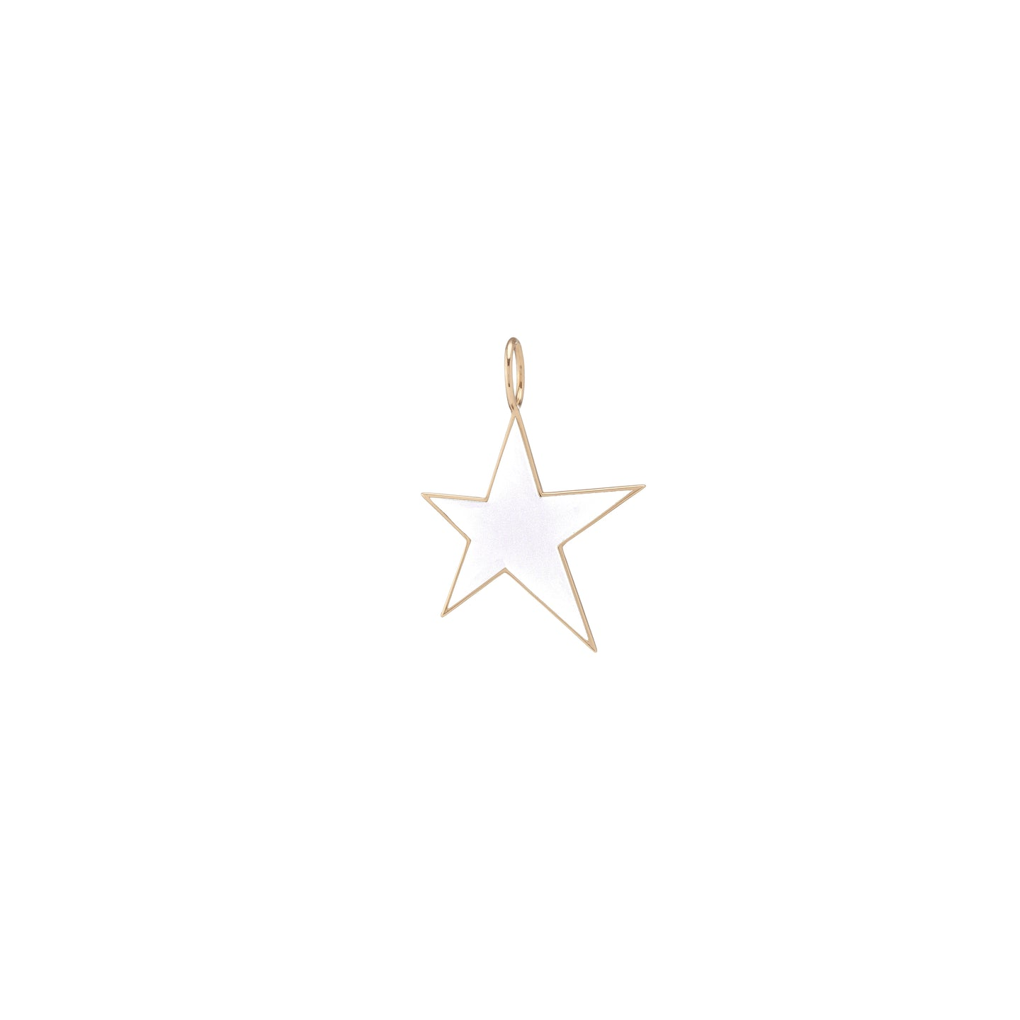Large Gold Border Enamel Star