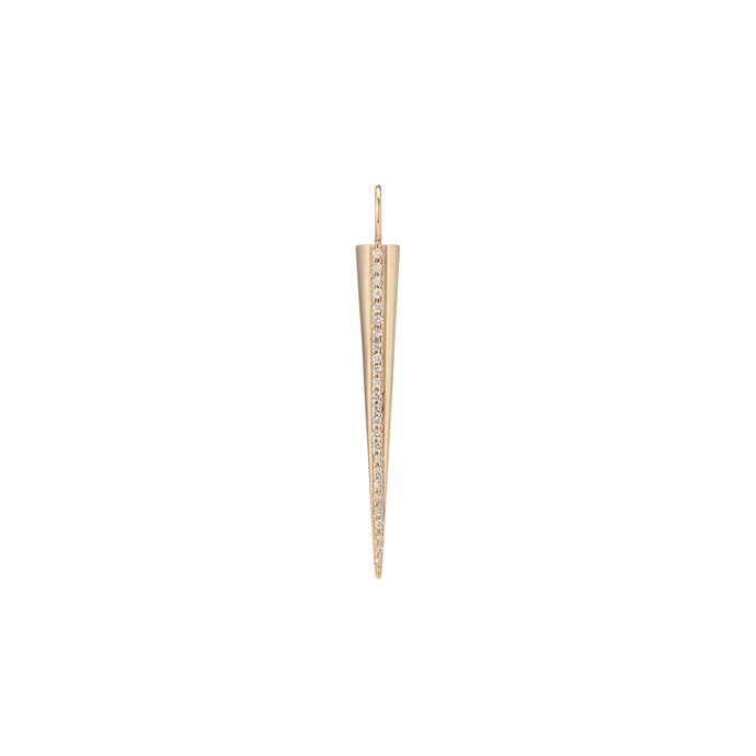 Medium Skinny Cone with Pavé White Diamond Stripe