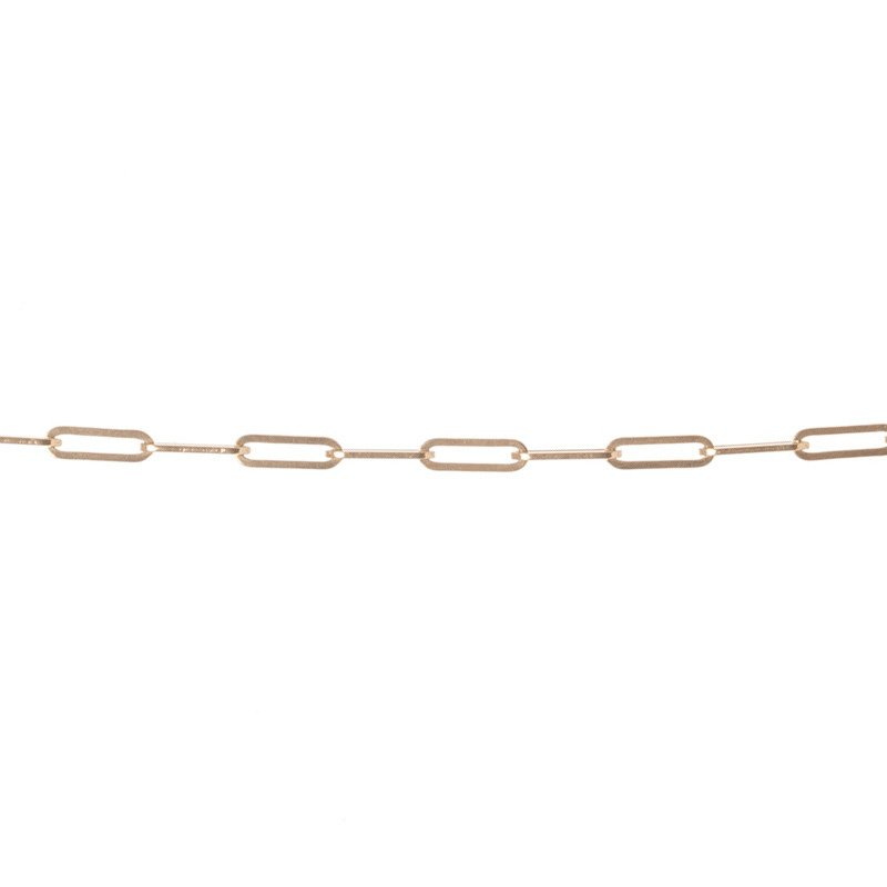 14K Long Link Chain Anklet