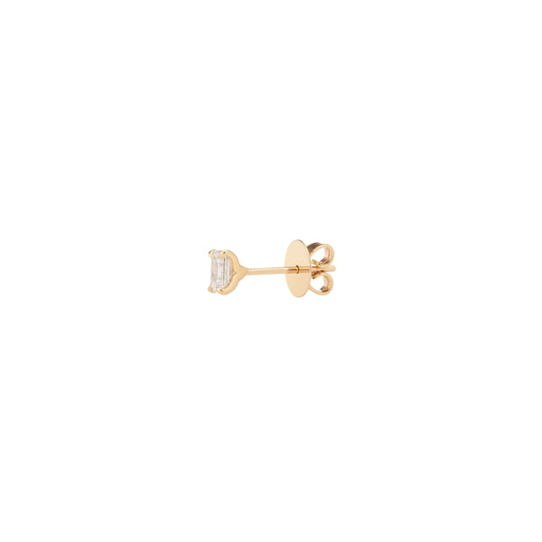 18K Yellow Gold .27CT Emerald Cut Lab Grown Diamond Stud