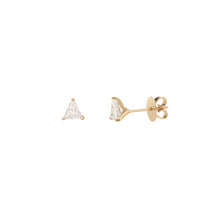 18K Yellow Gold .43CT Trillion Cut Lab Grown Diamond Stud