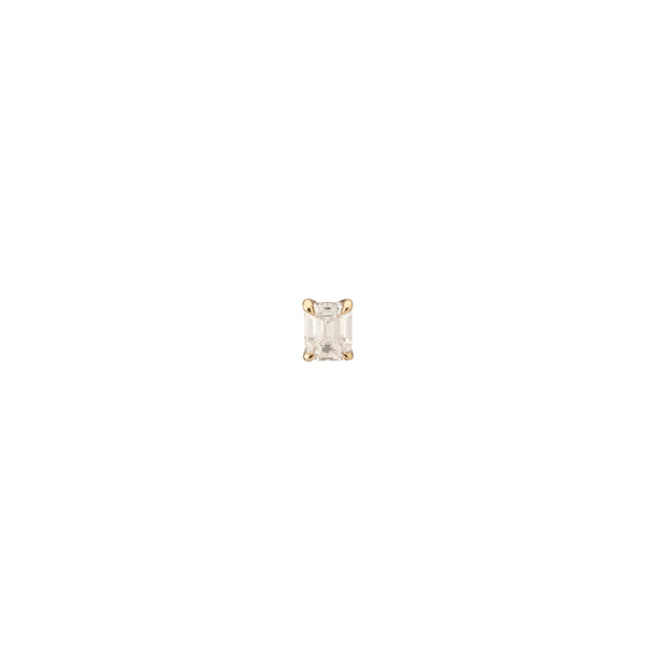 18K Yellow Gold .46CT Emerald Cut Lab Grown Diamond Stud