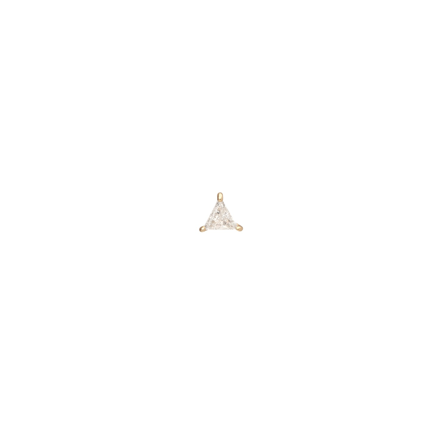 18K Yellow Gold .30CT Trillion Cut Lab Grown Diamond Stud