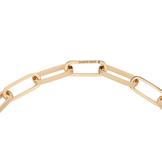 18k Custom Jumbo Long Link Chain Bracelet