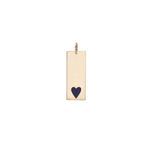 Dog Tag with Bottom Enamel Heart