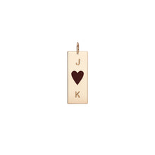 Dog Tag with Center Enamel Heart