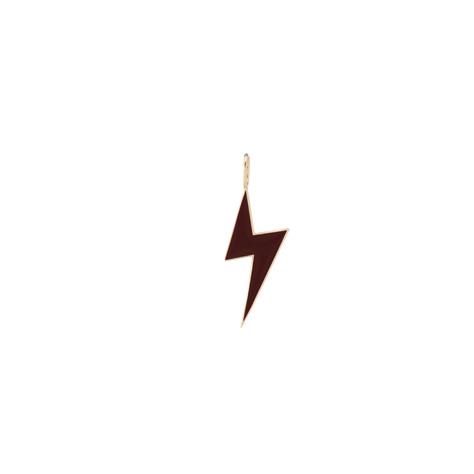 Gold Border Enamel Lightning Bolt