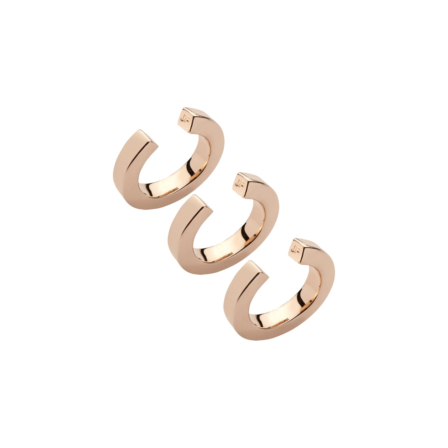 Square Ear Cuff Trio