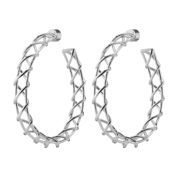 Lace Up Hoops
