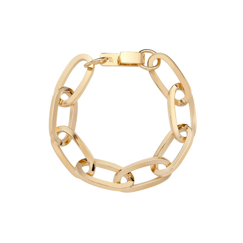 Large Essential Brass Bracelet
