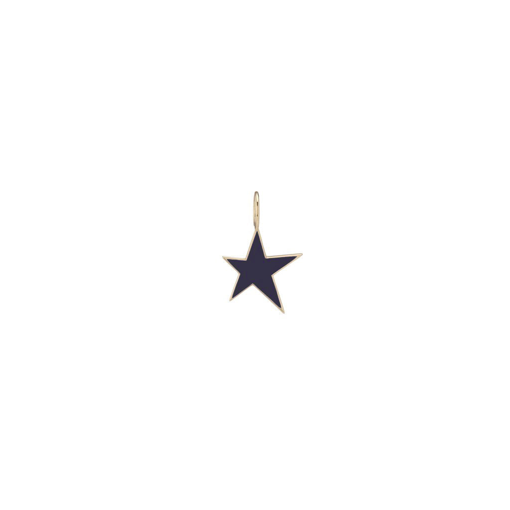 Medium Gold Border Enamel Star