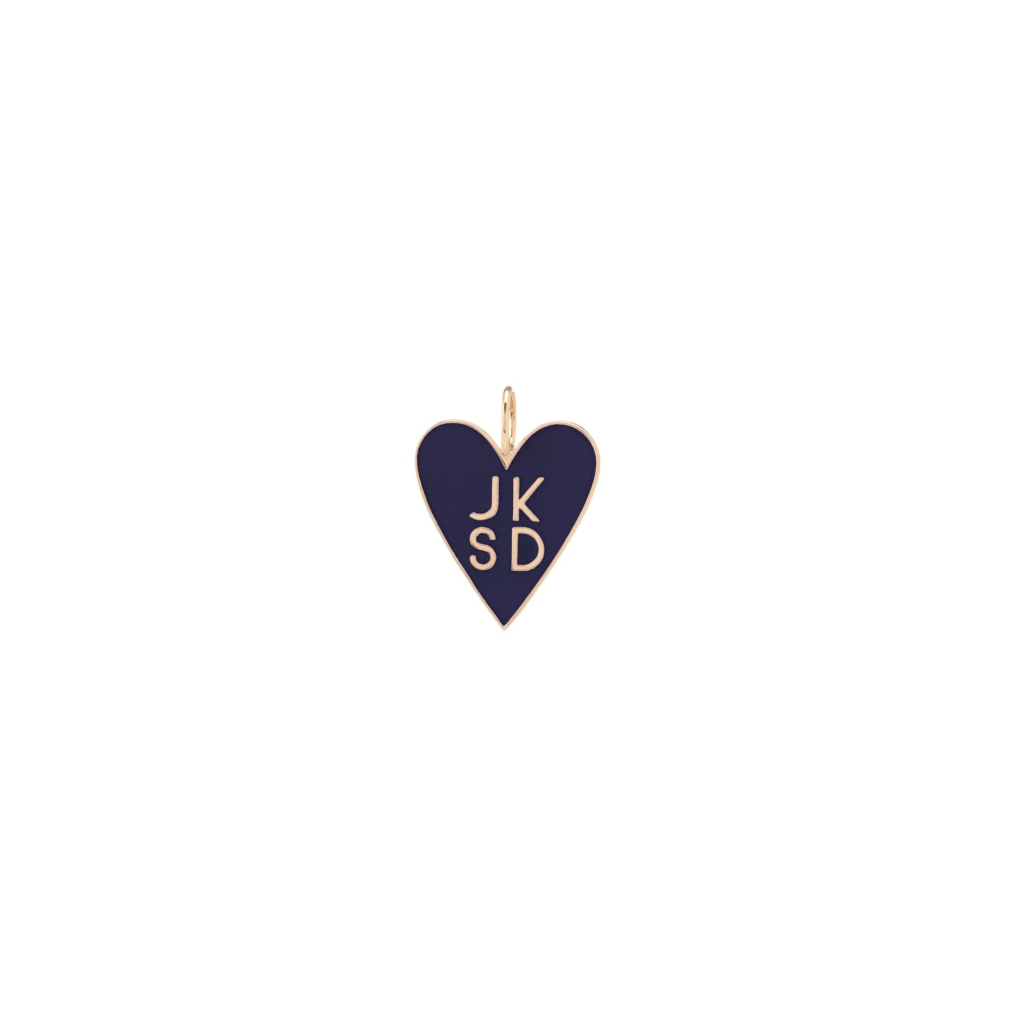 Family Enamel Heart with 4 Letters