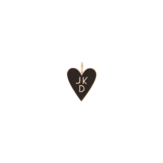Large Family Enamel Heart with 3 Letters