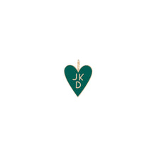 Family Enamel Heart with 3 Letters