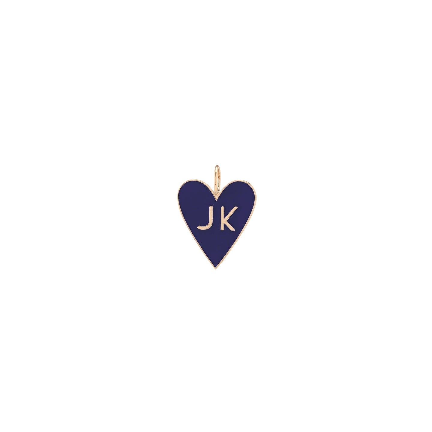 Large Family Enamel Heart with 2 Letters